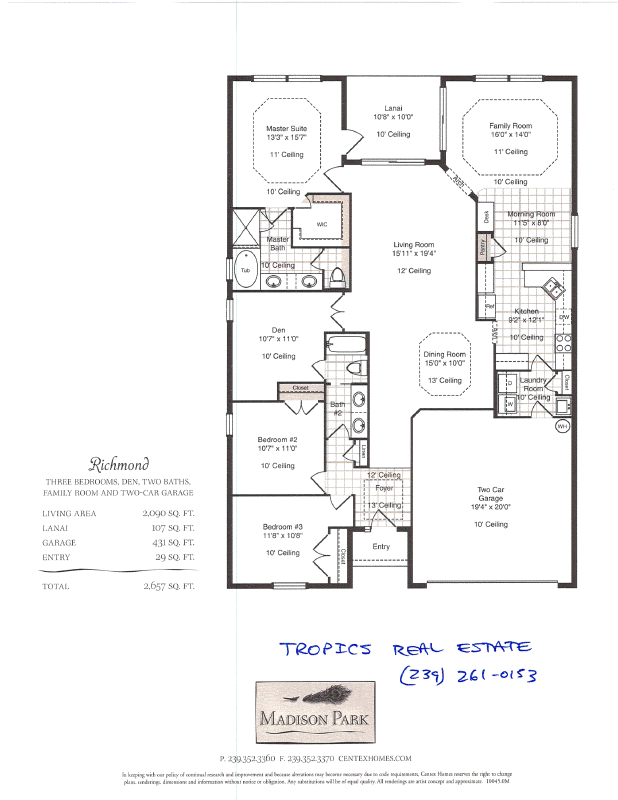 Mad park richmond floor plan